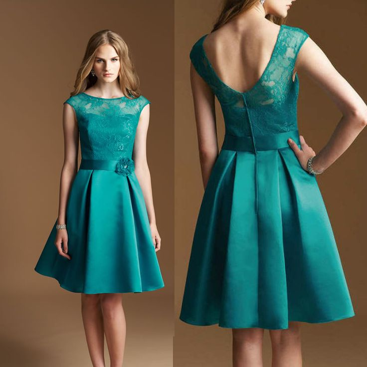 Teal Party Dress a Line
