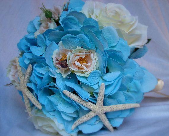 Items Similar To Bridesmaid Bouquet Beach Wedding Nautical Starfish On Etsy