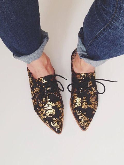 Farylrobin Gilded Rosebloom Oxfords #anthroregistry #botanicals #ReStyleTheRunway @thredu