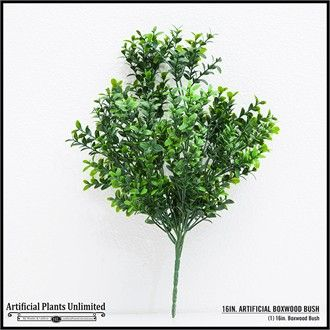 16in. Artificial Boxwood Bush Outdoor Rated