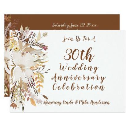 Anniversary Celebration Invitation -Soft Rustic - wedding invitations diy cyo special idea personalize card