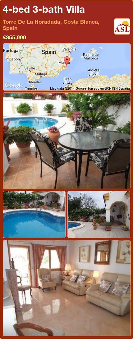 4-bed 3-bath Villa in Torre De La Horadada, Costa Blanca, Spain ►€355,000 #PropertyForSaleInSpain