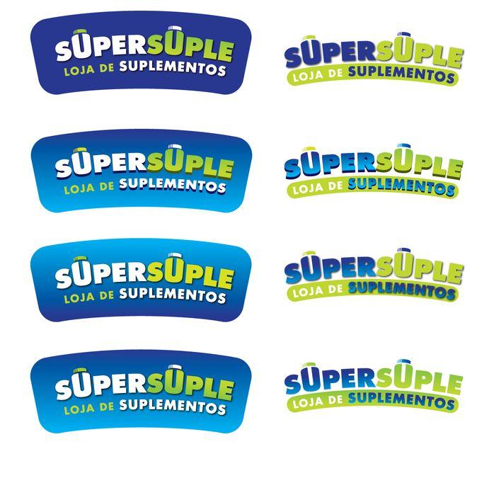 Logo Para Loja De Suplementos Classe M茅dia by SevyDesign