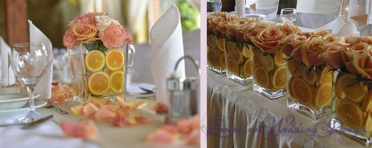 Esküvői dekoráció, sárga esküvői dekoráció