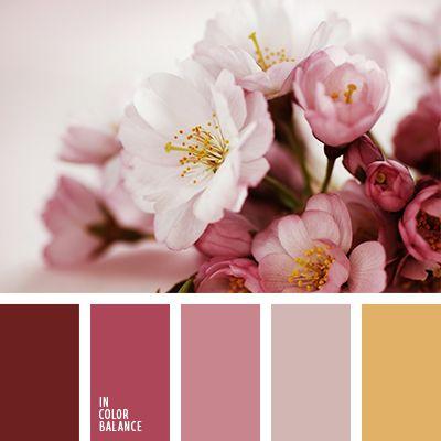 amarillo azafranado, amarillo cálido, amarillo pastel, burdeos, combinación de colores, de lavanda, elección del color, frambuesa, matices del rosa ceniza, paleta de colores para boda, rosado, rosado claro, tonos pasteles suaves.