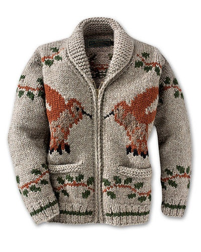 Cowichan Style sweater.....with hummingbirds:)  Does any one know where to find this pattern!!!!!!