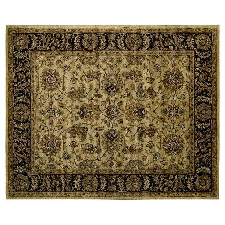 Nourison Jaipur Traditional Framed Floral Wool Rug,
