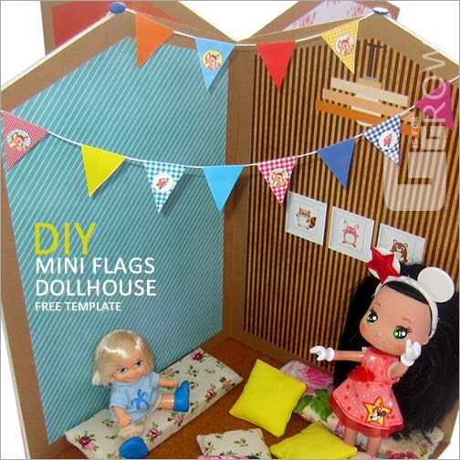 #miniflags #freetemplate #flags #dollhouse #dollhouse #doll #kit #miniature #toy #house #minnie #toplay #babyroom #child #gisforgrow #barriguitas #play #diy