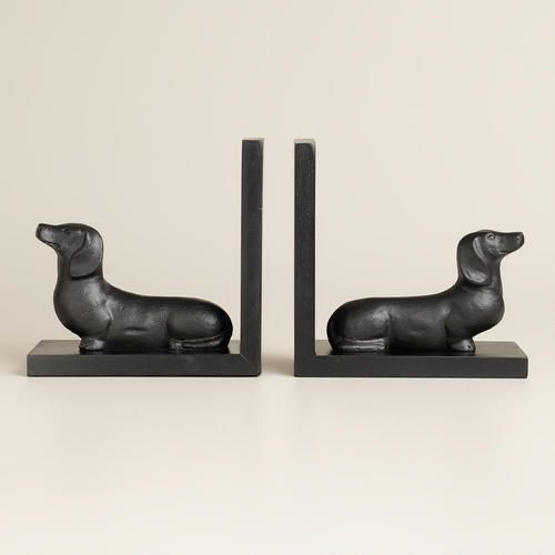 One of my favorite discoveries at WorldMarket.com: Hand-Painted Wood Dachshund Bookends, Set of 2