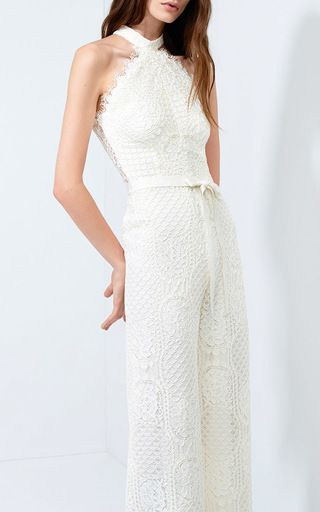 The details on this Maylina Lace Jumpsuit by ALEXIS are amazing.  Now Available on Moda Operandi
