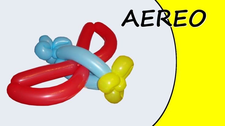 Video tutorial on how to make an airplane with balloons twisting #airplane #plane