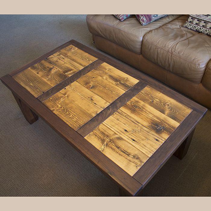 Colorado Rustic Walnut & Barnwood Coffee Table