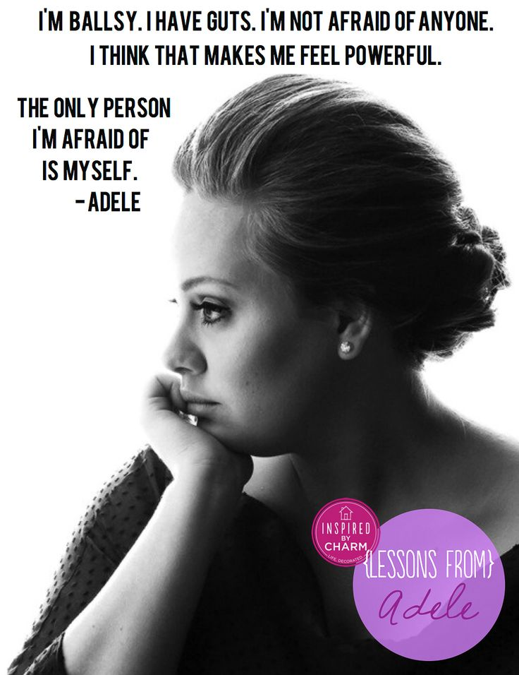 Tough, vulnerable & uber talented, what's not to love? Click thru to see more {Lessons From} Adele series via inspired by charm