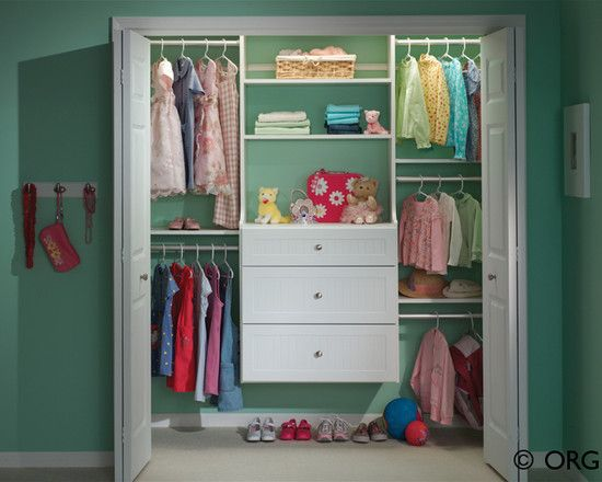 beautiful baby closet organizer ideas kids painted closet with suspended drawers and space under for