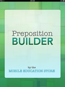 Carrie's Speech Corner: App Review & Giveaway: Preposition Builder