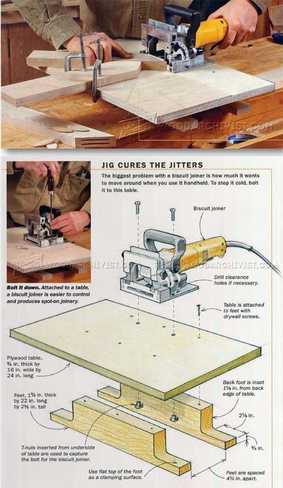 Biscuit Joiner Techniques - Biscuit Joiner Tips, Jigs and Fixtures   WoodArchivist.com