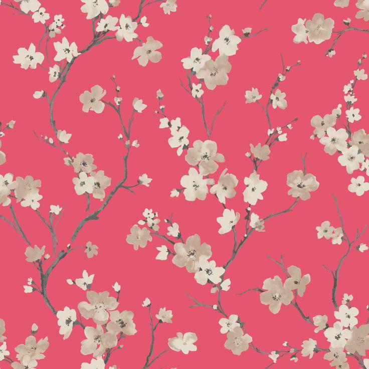 Blossom Soft Red Wallpaper