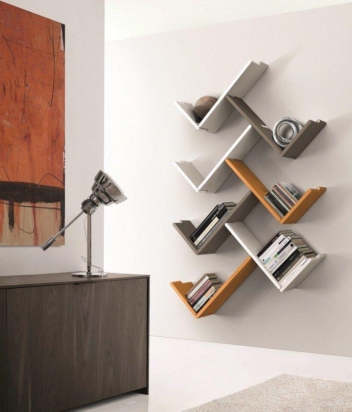Wooden Wall Shelf Zedline By Euromobil Wooden Wall Shelves Bookshelf Design Furniture Design Wooden