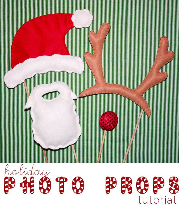 Sew or Print Photo Props - Santa & Rudolph