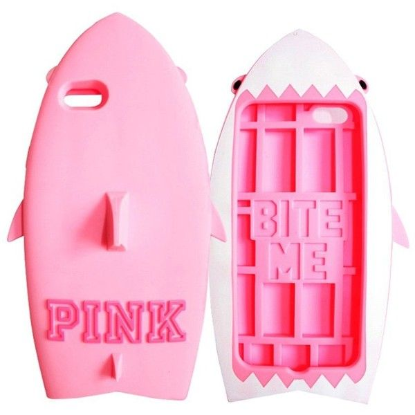 Amazon.com: Iphone Case, TCIL Victoria's Secret PINK 3D PINK Shark... (15 CAD) ❤ liked on Polyvore featuring accessories, tech accessories, victoria's secret, silicon iphone case, iphone cell phone cases, iphone cover case and silicone iphone case