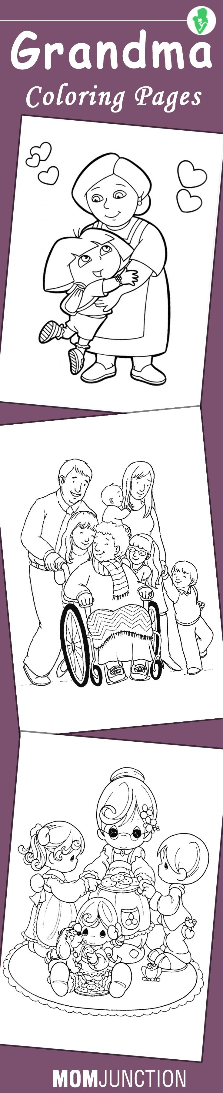 10 Best Grandma Coloring Pages For Your Little Ones