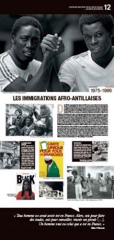 N°12 : Les immigrations afro-antillaises (1975-1986) - Dès 1975, le clivage qui prévalait entre le travailleur de passage et l'étudiant tend à s'estomper. En effet, le choc pétrolier de 1973 et la crise qui s'ensuit provoquent un arrêt officiel de l'immigration de travail en France et laisse progressivement place au regroupement familial... © Groupe de recherche Achac