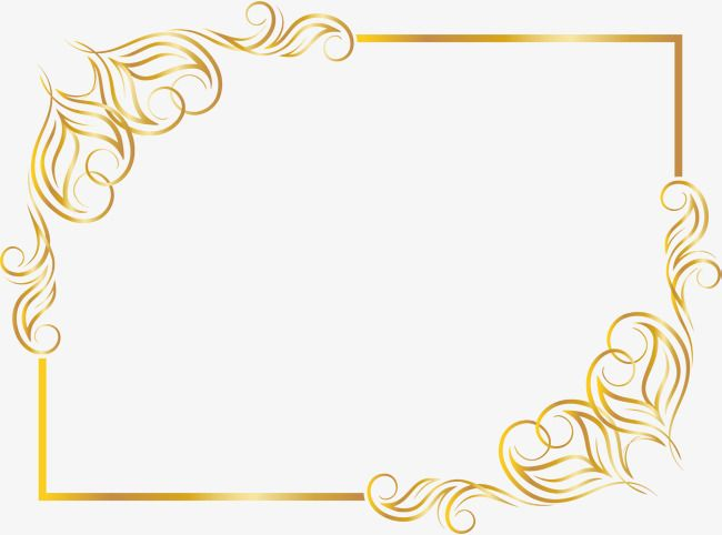Golden, moldura dourada curva, cor dourada, curvas, moldura PNG