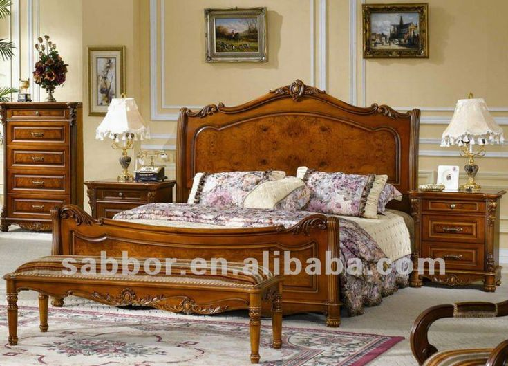 Sm-705 Wooden Bed Designs Wooden Beds Carved Wooden Double Bed ...