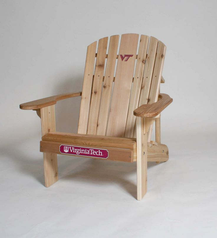 EUREKA Woodworks Located In Dallas, Texas. Garden Furniture And College  Logo Adirondack Furniture. Go Hokies!