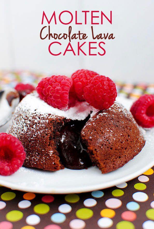 Hello, Valentine's Day dessert! Molten Chocolate Lava Cakes.   iowagirleats.com