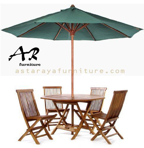 Set Meja Payung Outdoor Kursi Lipat Furniture