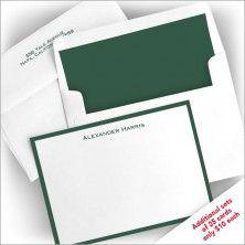 Hunter Wide Bordered Correspondence Cards