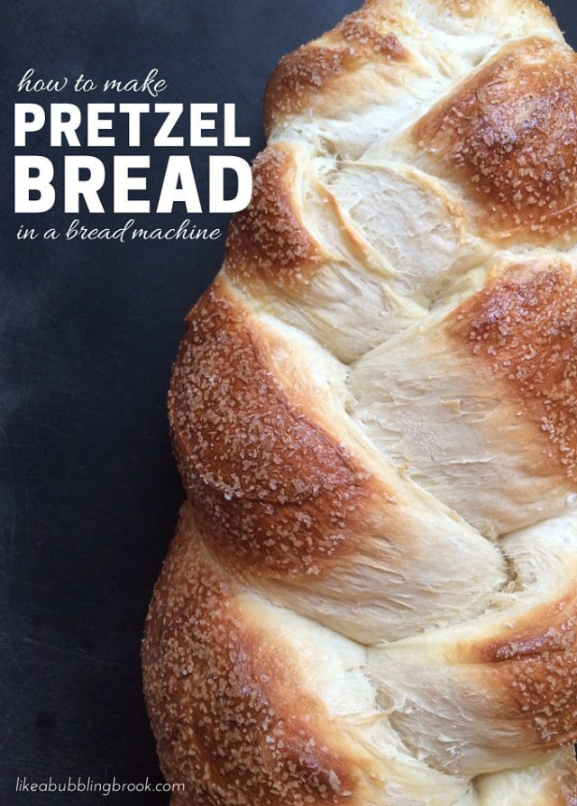 Pretzel Bread Recipe | Years ago, a precious friend of mine named Hildegard shared her most amazing pretzel bread recipe with me.  She had tweaked this recipe based on the pretzel bread she remembered from Germany, and created this simple bread machine method for making delicious pretzel bread dough in the bread machine.  She finishes it by hand in her oven.