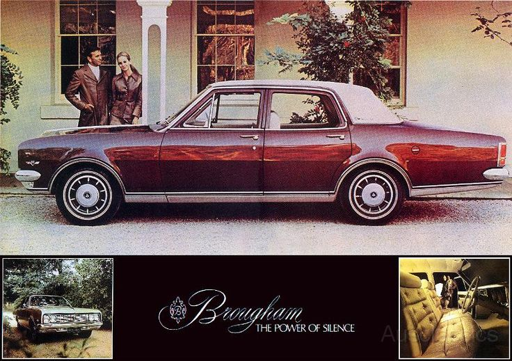 Holden Brougham. LWB luxury version of HK, HT, and HG sedans of the late 1960s and early 1970s