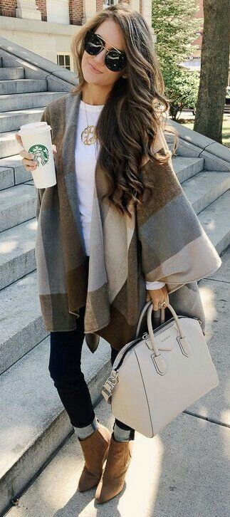Ponchos are really making a comeback!! I totally want one for fall time.