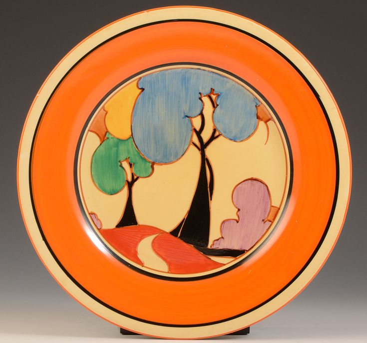 "Clarice Cliff BLUE AUTUMN 10"" PLATE C.1932"