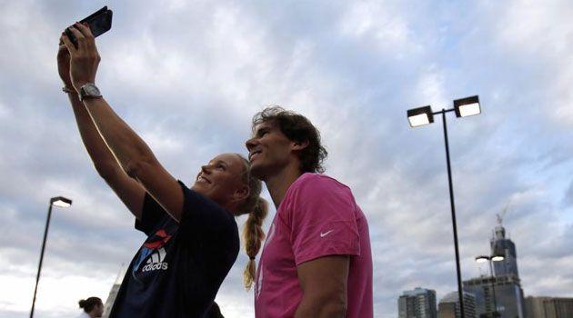 El 'selfie' de Nadal y Wozniacki