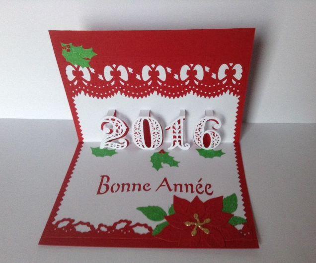 kirigami bonne annee 2016
