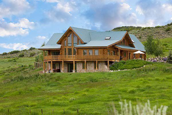 13 best log home floor plans images on pinterest log for Modern log home floor plans