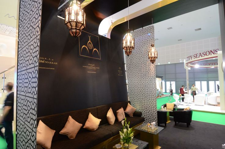 Trade show stand interior at ATM Dubai 2013. Design and installation by Elevations Exhibition Design & Management Ltd.