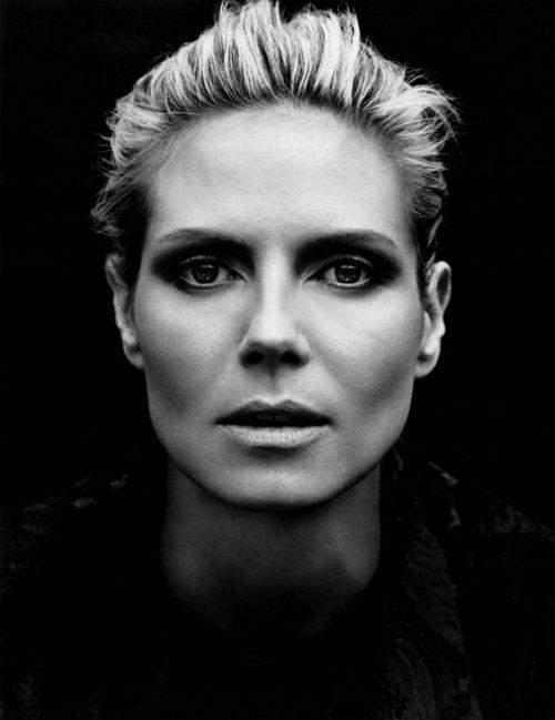 Heidi Klum  I black and white #photography