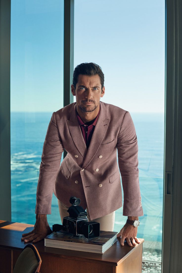 David Gandy goes chic in a double-breasted blazer for Marks & Spencer's spring-summer 2016 campaign.