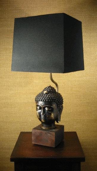 Bronze Buddha Lamp par AFineLight sur Etsy,