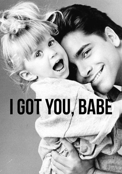 Michelle Tanner and Uncle Jessie!! #tbt