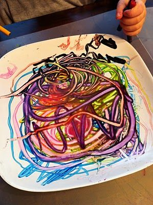 warm plate & crayons