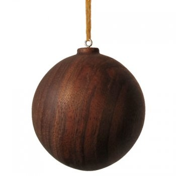 stained wood Christmas ornament