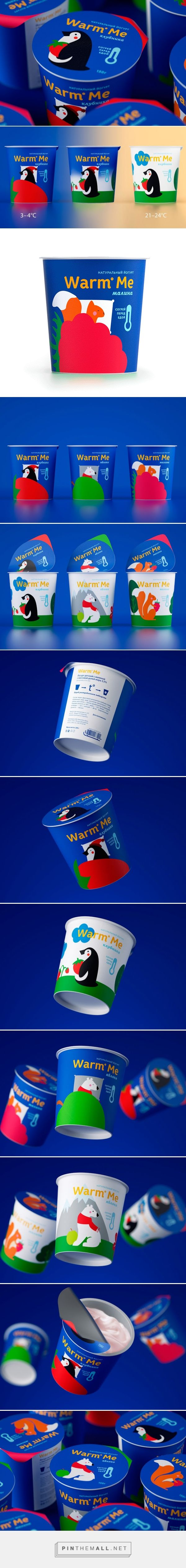 Warm Me Kid's #Yogurt #packaging by Malygina Marina - http://www.packagingoftheworld.com/2014/12/warm-me-kids-yogurt.html