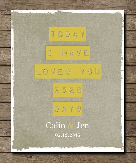 First Paper Wedding Anniversary Gift Wall Poster Print 8 X 10 Choose Your Colors And Fonts Via Etsy