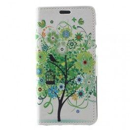 Huawei Honor 8 Lite vihreä puu puhelinlompakko.