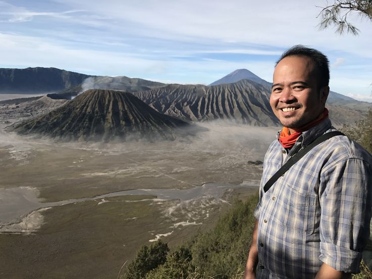 Me and the Bromo Crater, East Java - Indonesia